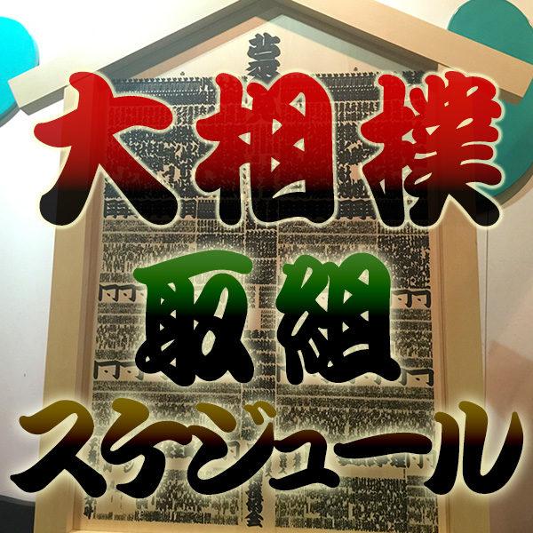 大相撲 土俵 取組スケジュール