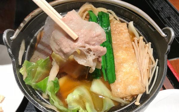 寺尾 ランチ ちゃんこ定食 醤油ちゃんこ 豚肉