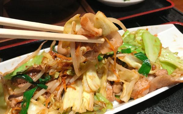 相撲茶屋 寺尾 力士みそ炒め定食 豚肉と野菜のみそ炒め
