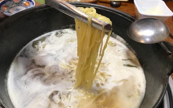 本場所 ちゃんこ鍋 特製ラーメン ネギ付